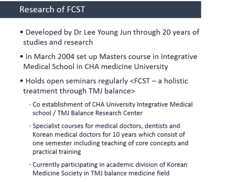 research of FCST